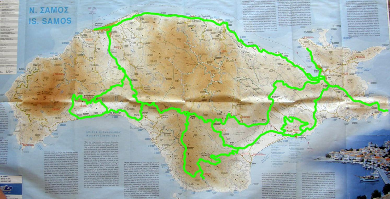 routes on Samos