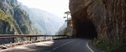 Piva canyon road & its unlit tunnels