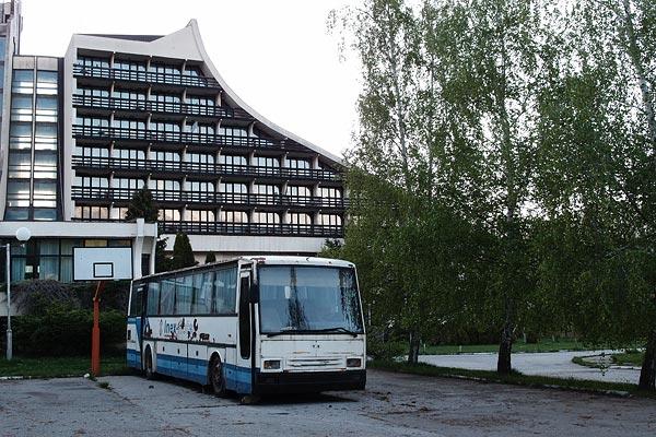 abandoned hotel & bus, Brezovica, Kosovo