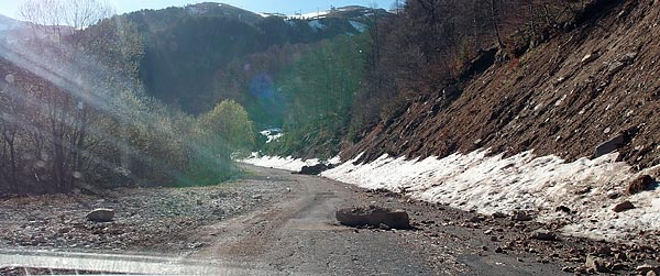 Brezovica ski resort access road, Kosovo