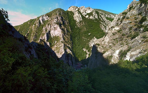 Matka valley from Sv. Nikola monastery