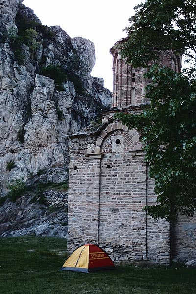 Sv. Nikola monastery (free camping, water, toilet, friendly caretakers)