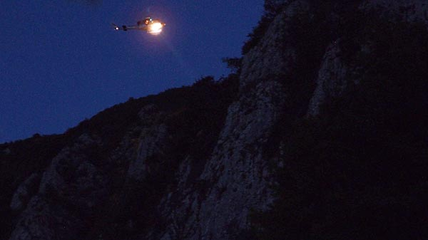 lost hikers needed a night rescue above Sv. Nikola monastery