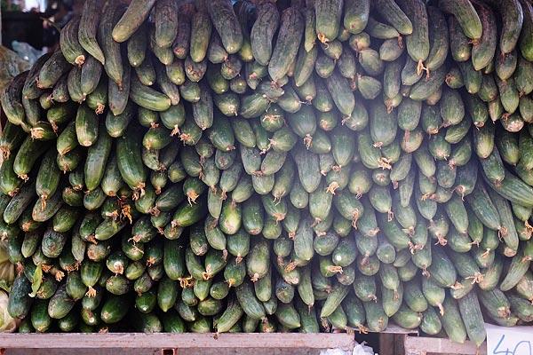 cucumbers, Bitola food market