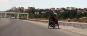 unfinished motorway into Tirane