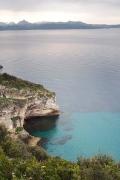 on a coastal trail towards St. Florent from Plage Cadarelli