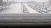 layers of snow, Jyväskylän matkakeskus (trainstation) overpass
