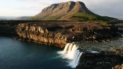 Þjofafoss & Burfell in Þjórsá river valley