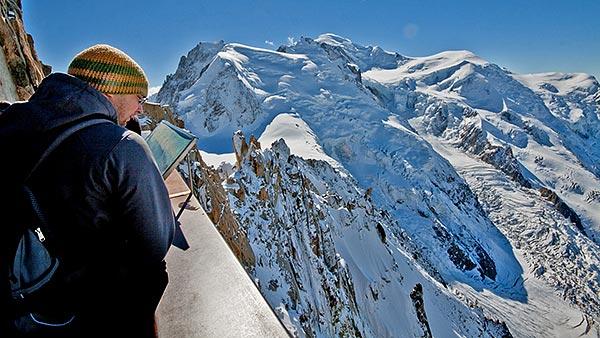 Aiguille du Midi, Mont Blanc du Tacul & Mont Blanc ©Jaka Ortar