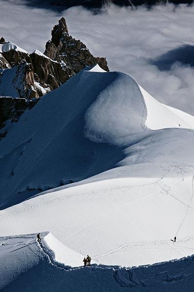 ridge towards Vallée Blanche