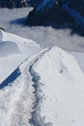 ridge from Aiguille du Midi