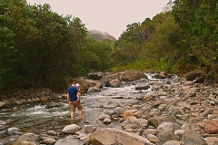 Refreshing morning after 20h of flying @ Iao Valley State Park ©Jonna