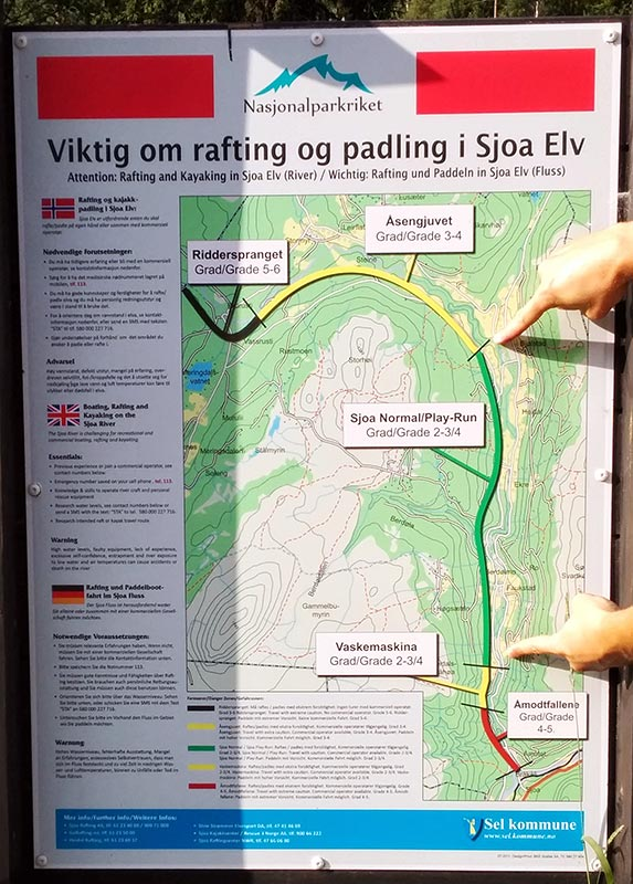 Sjoa river map