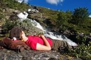 morning siesta, Bessa river