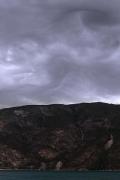weird swirling cloud formations above Årdalsfjorden/Lærdalsfjorden