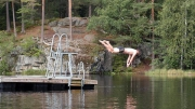 One last swim (warmest of them all @ ~17°C), Morttjern ©Jonna