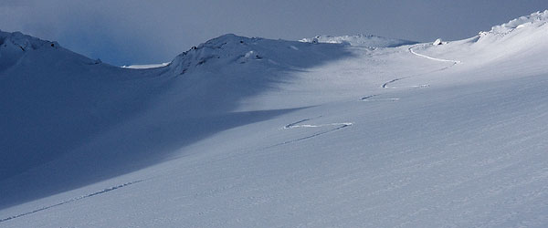 first powder signature on Berhomsfjellet, 1223m