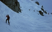 2nd year on skis and she\'s following me down 40° on X2-West Side Story on Kitzsteinhorn :)