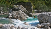 first drop of an insanely beautiful section of Soča @ Otona, aug.31st