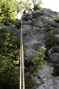 abseil, Steber, IV+/III, 90m, Vipava, May 1st