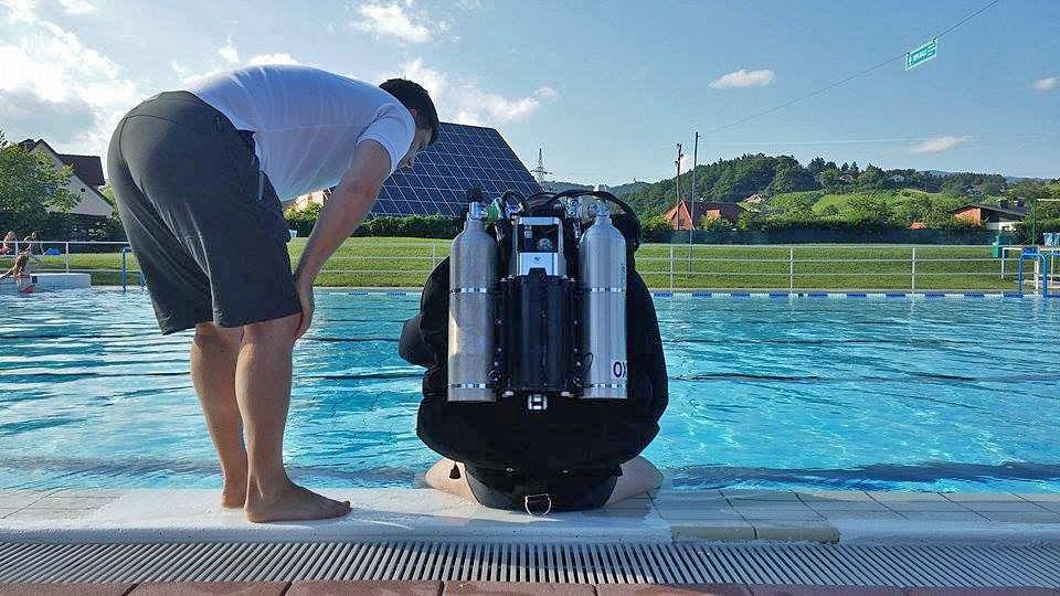 Poseidon mkVI rebreather demo. Slo.Konjice July 10th ©Nejc Žolgar
