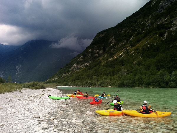 Approaching thunderstorm, Soča @ perfect 24m3/s, June 27th
