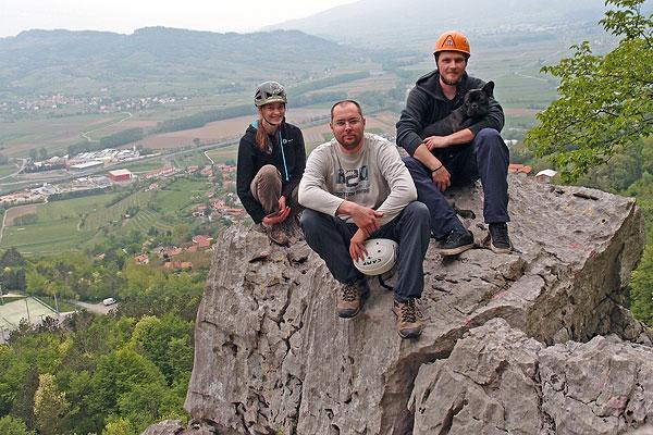 group photo with Max, Jonna & Nejc Vipava Apr.26th