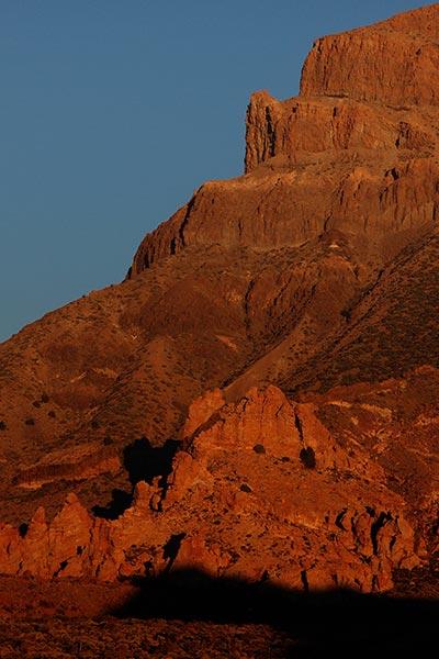 Cañada del Capricho, first sport climbing area in Tenerife, Parque Nacional del Teide