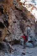 route scouting in La Martella, Barranco de la Orchilla