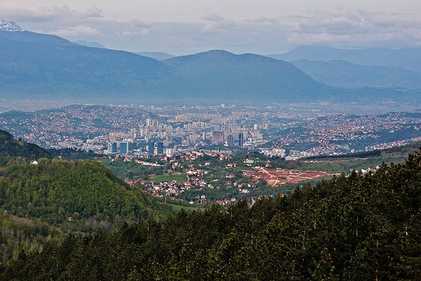 Sarajevo from above on the way to Vukov konak