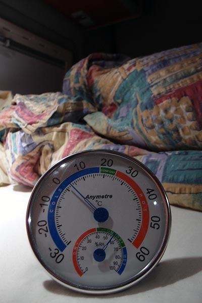 -9°C outside, +3°C inside (#ranoutofgas), Feb.3rd