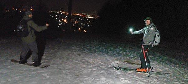 Pohorje night climb fail, ski day #12.5, Feb.16th