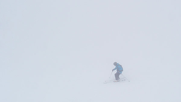 Dizziness inducing white room @ ...eck, ski day #18, Mar. 22nd ©Janez