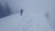 On the ridge during a period of highest visibility of the day. Slatnik, Mar.5th