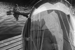summer cottage, lake swimming and kayaking on Iso-Kukkanen, Jul.9th